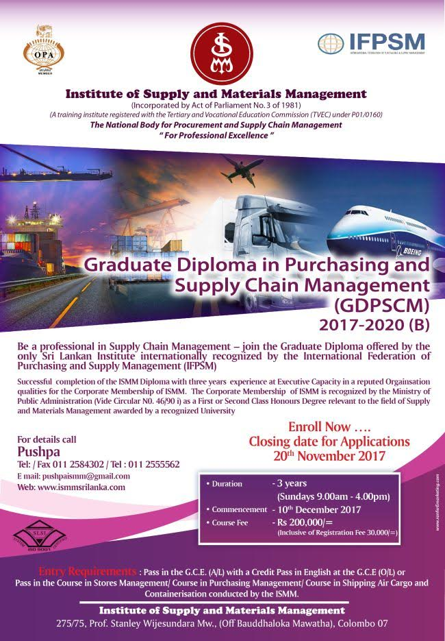 Graduate Diploma in Purchasing and Supply Chain Management